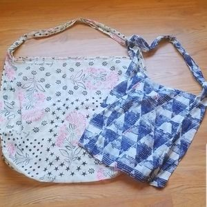 FP Free People lot of 2 reusable shopping bag m xl